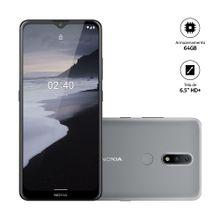 Smartphone Nokia 2.4 Cinza 6,5HD+ 64GB, 3GB RAM Android Câm.Traseira 13+2MP - NK015