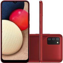 "Celular Samsung Galaxy A02s Vermelho 32GB Tela 6.5"" 3GB RAM Câmera Tripla 13MP + 2MP + 2MP"