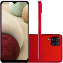 """Celular Samsung Galaxy A12 Vermelho 64GB Tela 6.5"""" 4GB RAM Câmera Quádrupla 48MP + 5MP + 2MP + 2MP"""