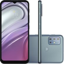 "Celular Motorola Moto G20 Azul 64GB Tela 6.5"" 4GB RAM Câmera Quádrupla 48MP + 8MP + 2MP + 2MP"