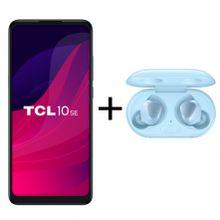 """Smartphone TCL 10 SE Azul Escuro Dual Tela 6.52"""" 4G 128GB 4GB RAM Octa-Core Câmera Tripla 48MP + Samsung Galaxy Buds Plus Original Azul"""