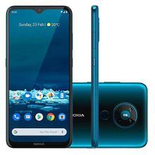 "Smartphone Nokia 5.3 NK009 Tela 6.5"" Android 4GB RAM Verde Ciano"