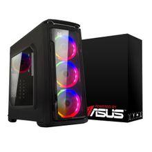 Computador Gamer BRX Powered By Asus AMD Ryzen 5 3400G 8GB SSD 120GB Windows 10 Pro Bivolt Preto com Led