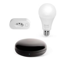 Combo Segurança - Tomada Inteligente Wi-Fi com Lampada Led Wi-fi e Controle Remoto Universal Liv - SE231K