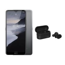 Compre Smartphone Nokia 2.4 Android 11, 64GB + 3GB RAM Cinza e Ganhe Nokia Power Earbuds Lite - NK015K