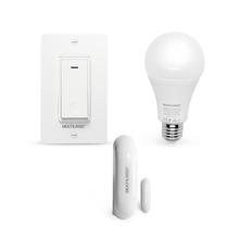 Combo Segurança - Sensor de Abertura com Lâmpada Led Wi-Fi e Interruptor Bivolt Wi-Fi Liv - SE235K