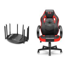 Combo Redes - Roteador Sirius Gigabit Ac2600 8 Antenas e Cadeira Gamer Warrior Vermelha -  RE123K