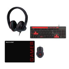 Combo Gamer - Fone de Ouvido Headset Gamer P3+P2, Mouse 3200dpi com Mousepad e Teclado GK120 – PH355K