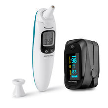 Combo Saúde - Termômetro Infravermelho Touch Care e Oxímetro de Dedo Oxygen Multilaser Saúde - HC116K