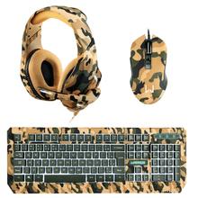Combo Gamer - Teclado e Mouse Gamer Army Kyler Warrior e Headset Gamer Straton USB 2.0 Stereo LED Army Warrior - PH305K