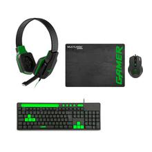 Combo Gamer - Headset Gamer P2, Mouse Gamer 3200DPI 6 Botões com Mouse Pad, Teclado GK120 com Suporte de Smartphone - TC265K