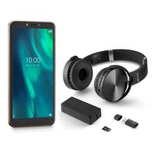 Combo Smartphone - Smartphone Multilaser F 3G 32GB e Kit Music Play Headphone Bluetooth + Power Bank + Leitor USB - P9131K
