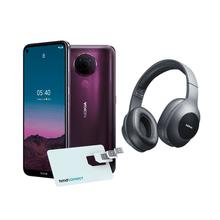 Combo Nokia - Smartphone Nokia 5.4 + Cartão SIM HMD Connect Roxo e Headphone Essential Wireless Bluetooth 5.0 Nokia Preto - NK031K