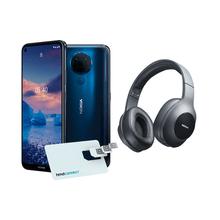 Combo Nokia - Smartphone Nokia 5.4 + Cartão SIM HMD Connect Azul e Headphone Essential Wireless Bluetooth 5.0 Nokia Preto - NK030K