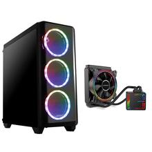 Combo Gamer - Gabinete Gamer Modoc RGB e Cooler Borys Water RGB 120mm Warrior - GA183K